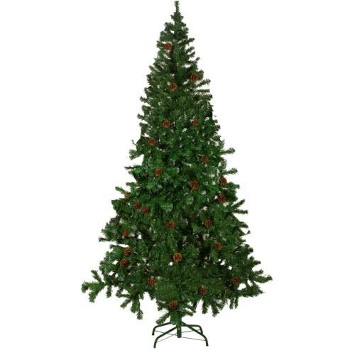 árbol de Navidad artificial de 210 cm con piñas
