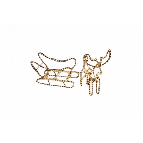 décoration de Noël avec traîneau de rennes
