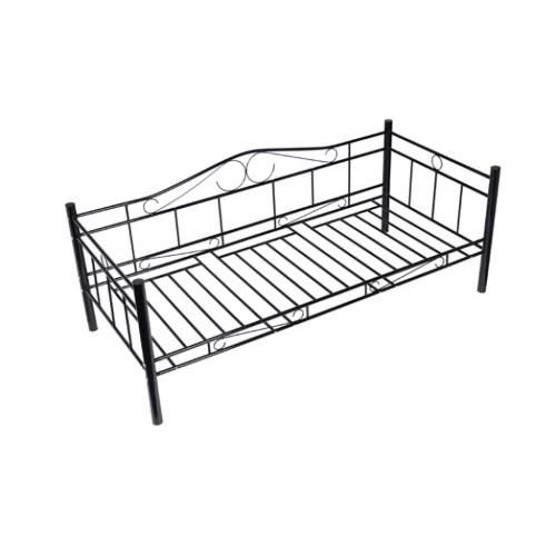 Black Single Day Bed Metal 90 x 200 cm