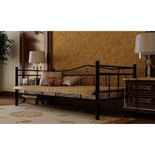 Sofá cama de hierro de 200 x 90, sofá de dos plazas convertible