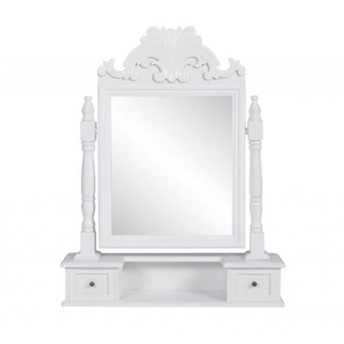 Небольшой комод с зеркалом и двумя ящиками