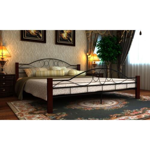 180x200cm de madera y cama de metal Diseño Cama matrimonial