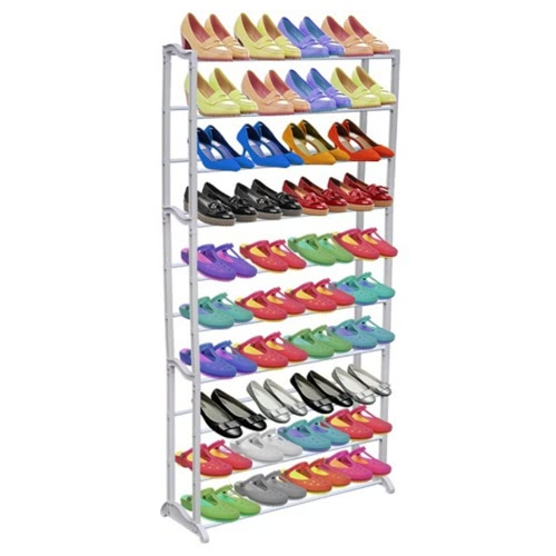 Schuhregal für 40 Paar Schuhe Schuhschrank 140cm