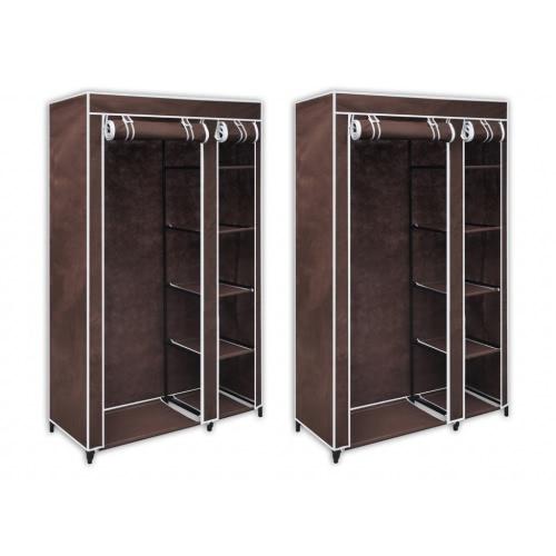 Tissu brun cabinet (2 pièces)
