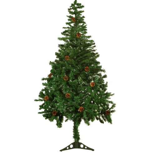 4,9 ft (150 cm) Frosted Christmas Tree with Pine Cones
