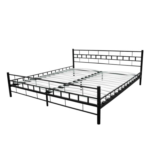 Metal Bed 140 x 200 cm Black Block