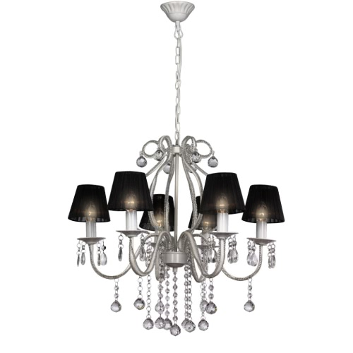 Chandelier with 2300 Crystals Black
