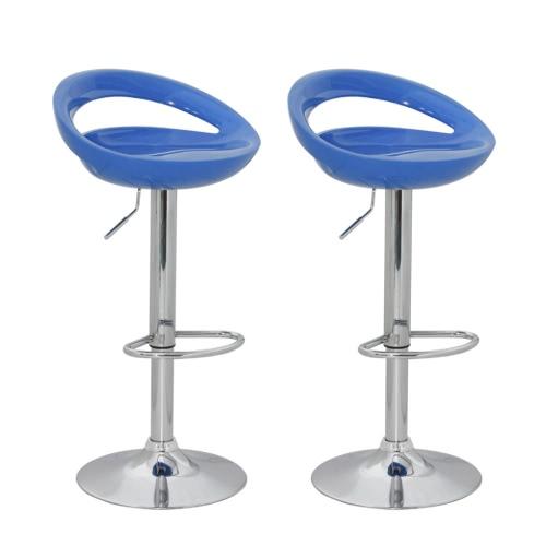 Taburete de barra azul del diseño plástico ABS (sistema 2) de diseño moderno