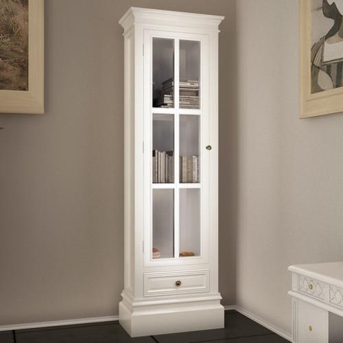 Белый Потертый Chic Деревянный Стеллаж Шкаф с 3 shelv