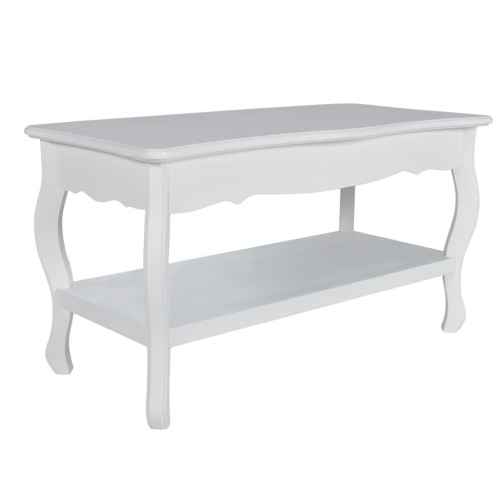 Table basse en pin blanc