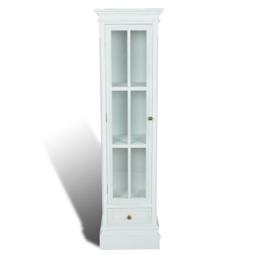 Colonne vitrée blanche avec tiroir