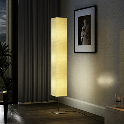 Floor lamp Contemporary floor 1.70 m. in rice paper.
