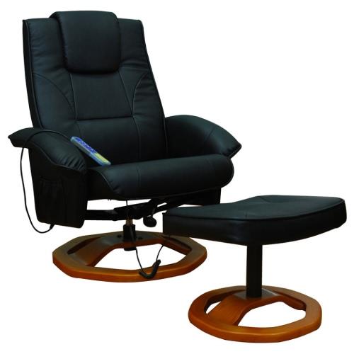 sillón de masaje Resoga con negro reposapiés