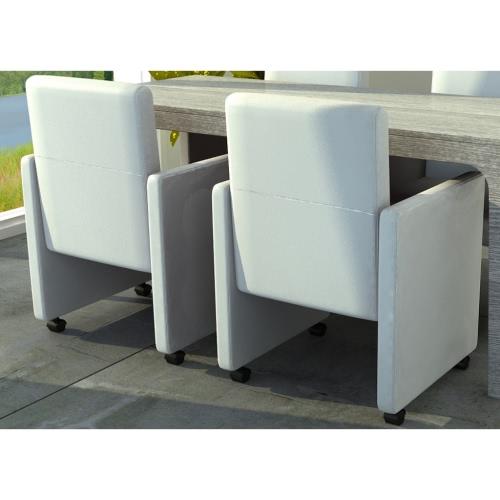Weiß Dining Chair Set 2 Stück