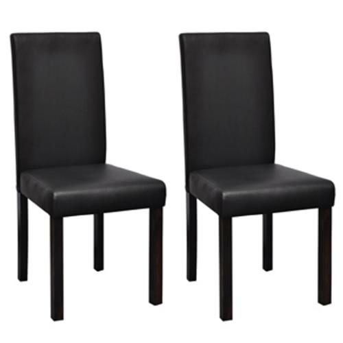 2 sedie x è possibile pranzare e pelle nera