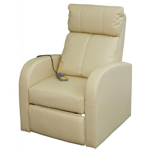 Silla eléctrica del masaje con control remoto crema blanca