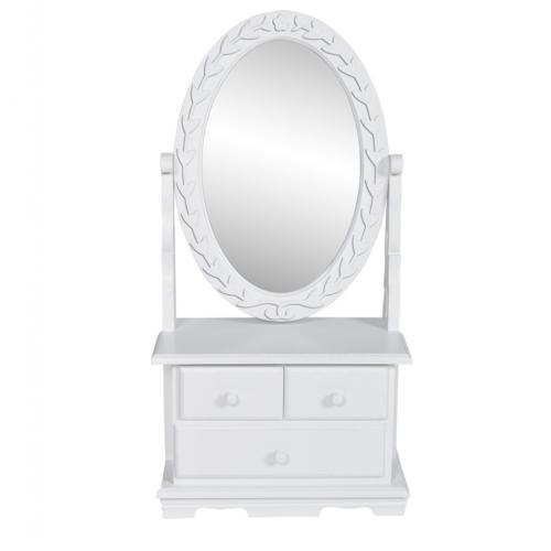 Таблица составляют классический стиль с колеблющейся овальным зеркалом