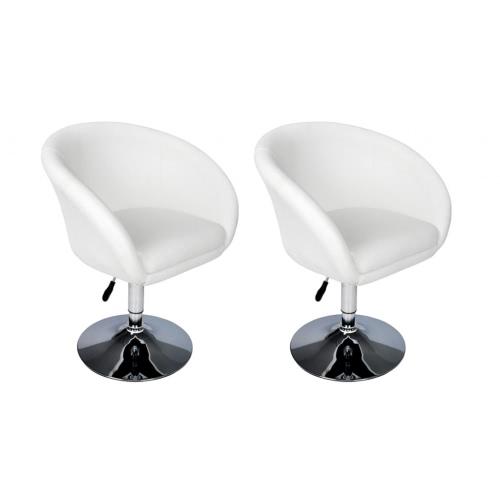 2 x Sgabello vasca bianca 100% PU