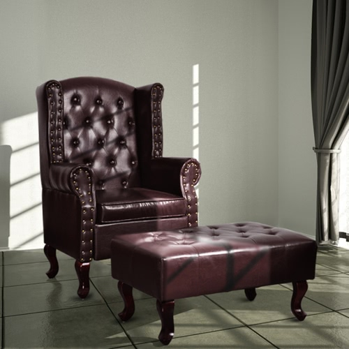 60784 Chesterfield chair brown