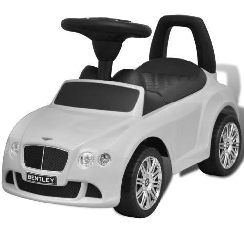 Coche de Bentley de deslizamiento blanco del niño