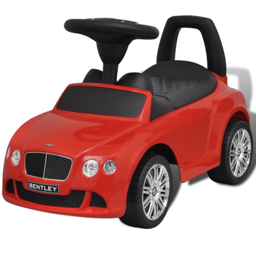 Bentley Foot-Powered Enfants Voiture Rouge