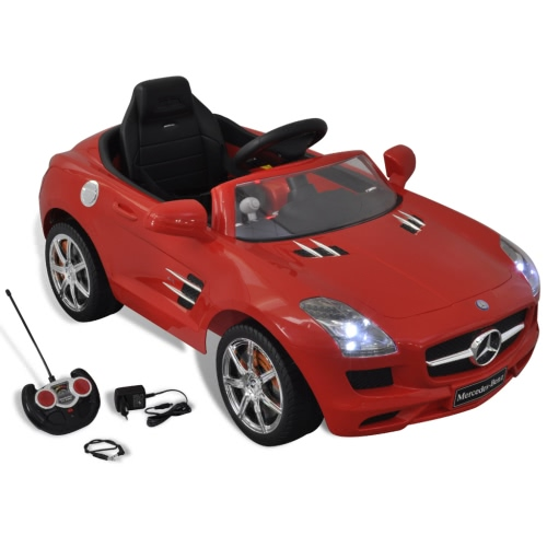 Mercedes Benz Battery-Powered Kids Car with Remote Control Red