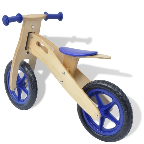 balance bike wood blue