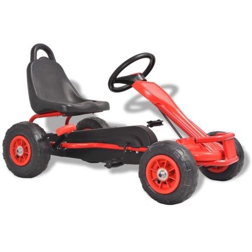 Pedal Go-Kart con pneumatici pneumatici rossi