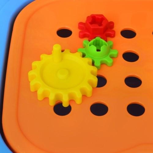 giocattolo stabilito per i bambini con gli strumenti Blu + Giallo