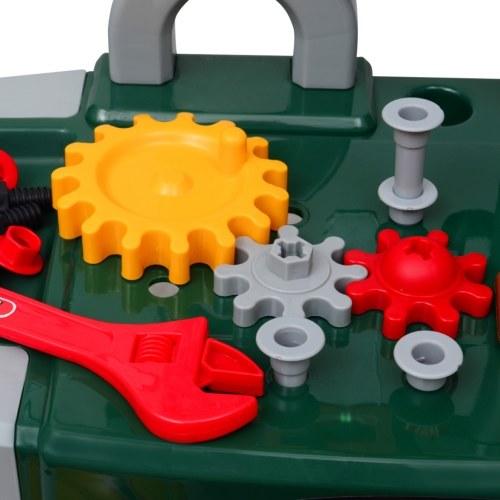 giocattolo stabilito con gli strumenti di verde per bambini + Grigio