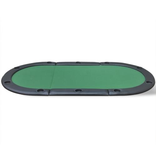 tavolo da poker pieghevole per 10 giocatori verdi