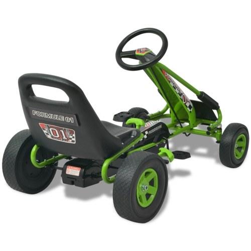 Kart a pedali con sedile regolabile verde