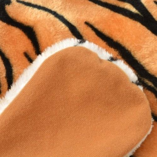 Tappeto peluche tigre 144 cm marrone