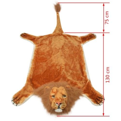 Tappeto peluche a forma di leone 205 cm marrone