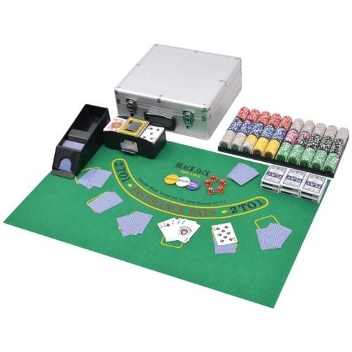 Gioco di poker con 600 laser in alluminio per mazze e mazze di blackjack
