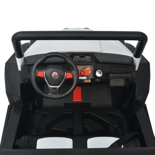 Auto elettrica per bambini 2 posti XXL Bianco e nero