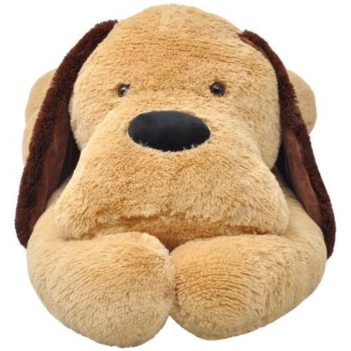 Cane di pezza marrone 120 cm
