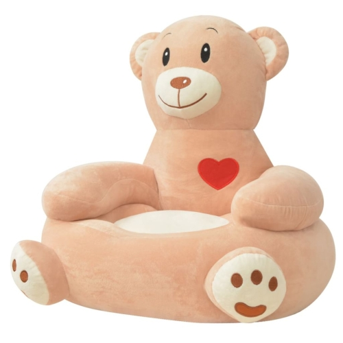 Plush Children's Chair Bear Brown