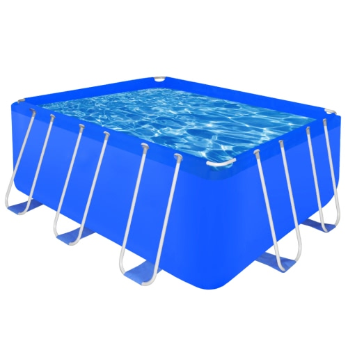 Swimming Pool Complex Steel Frame Rectangle 8870 L hors sol