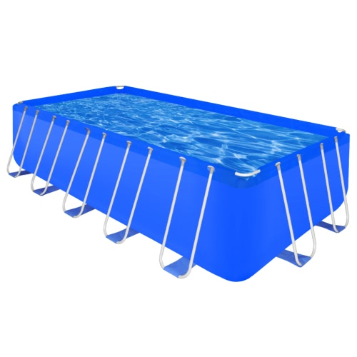 Piscina Complejo marco de acero rectangular Aboveground 12945 L
