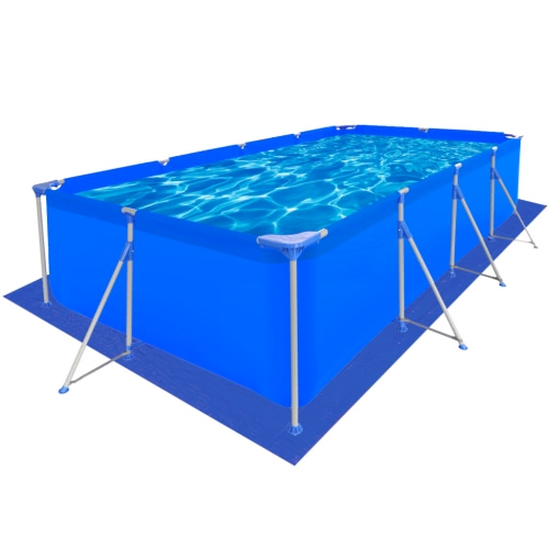 piscina rettangolare con un foglio in PE-piscina 400 x 207 centimetri