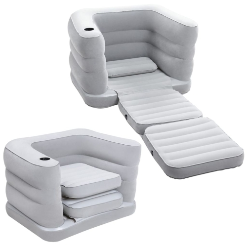91237 Bestway Multi Max II Inflatable Chair Bed 1 Person 75065