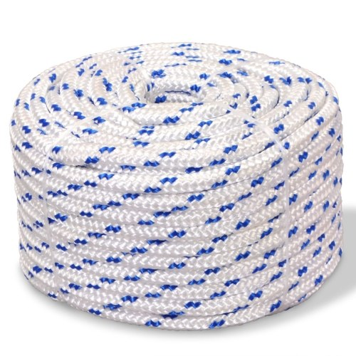 Boat rope polypropylene 8 mm 100 m white