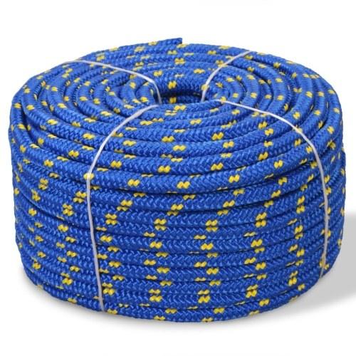 Corda per barche in polipropilene 8 mm 100 m blu