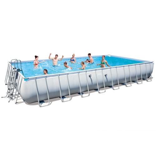 Bestway питания стали Прямоугольный бассейн Set 956x488x132cm 56479