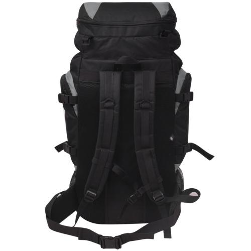 escursionismo zaino XXL 75 L nero e grigio