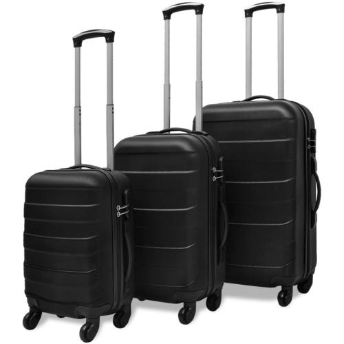tre pezzi Hardcase Trolley Set Nero
