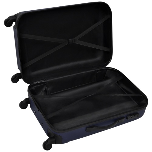 tre pezzi Hardcase Trolley Set Blu