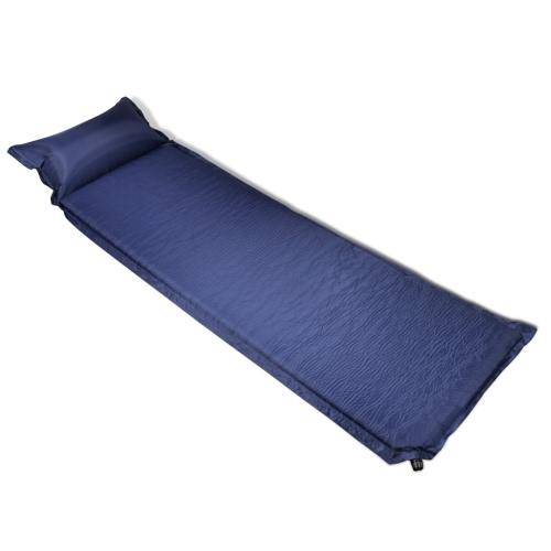 materasso autogonfiabile con cuscino 6 x 66 x 200 cm blu