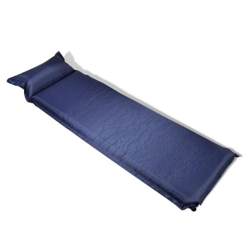 materasso autogonfiabile con cuscino 10 x 66 x 200 cm blu